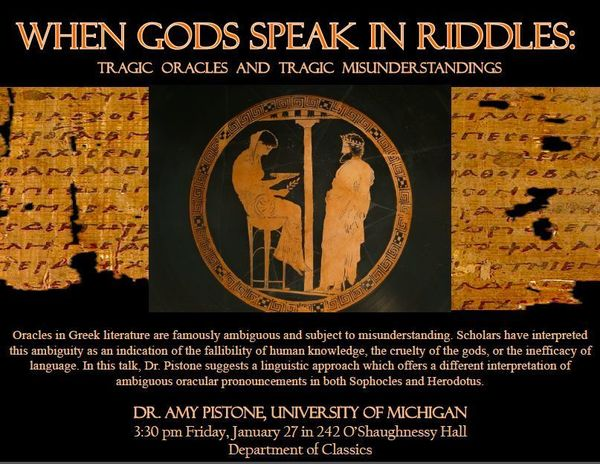 When Gods Speak In Riddles Flyer Image