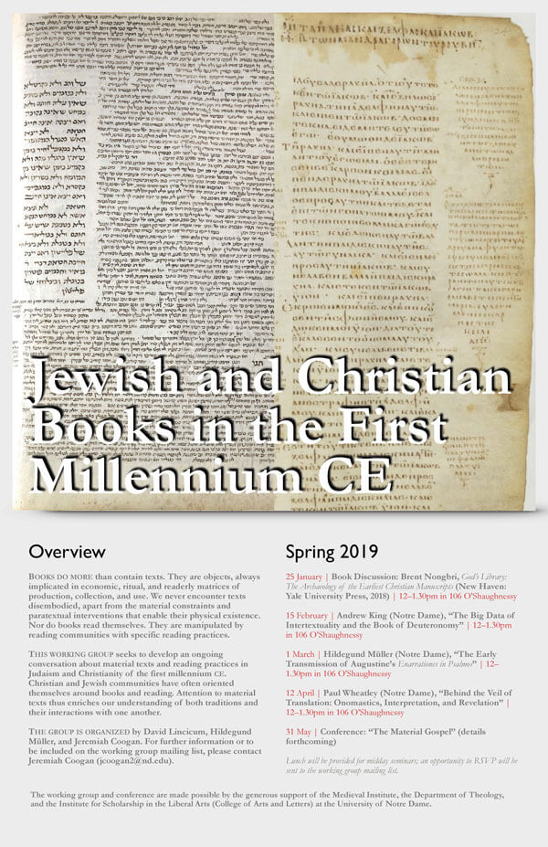 2018 Jewish And Christian Books Poster