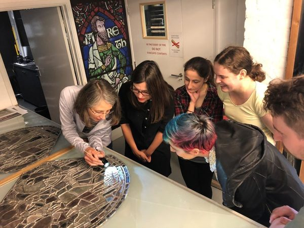 Prof. Koopmans showing glass to MEMS students, Sept 2018