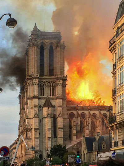 Fire at Notre Dame de Paris