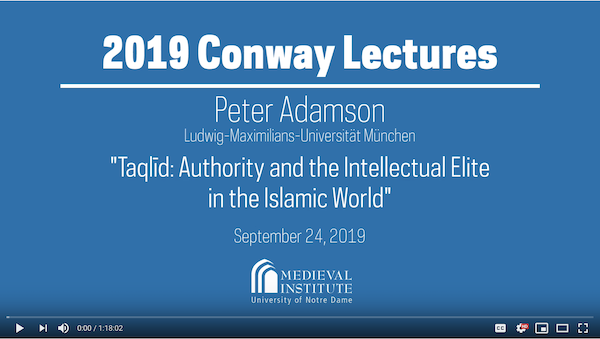 Peter Adamson Lecture 1 video thumbnail