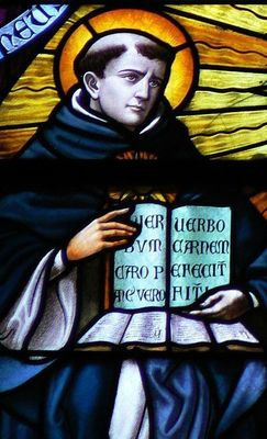 Thomas Aquinas In Stained Glass Opt