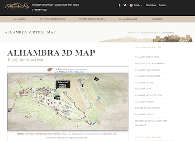 Alhambra virtual tour website