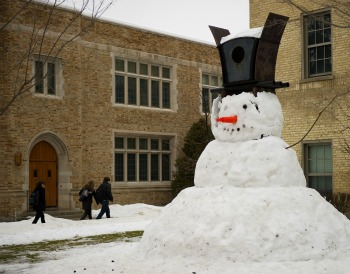 Riley Hall snowman